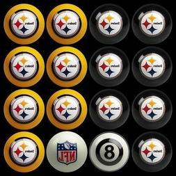 NFL Pittsburgh Steelers Pool Ball Billiards Balls Set w/ FRE
