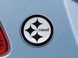 Pittsburgh Steelers Premium Solid Metal Chrome Auto Emblem R