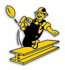 Pittsburgh Steelers Retro  Decal / Sticker Die cut