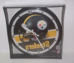 Pittsburgh Steelers Round Wall Clock NFL NOS New In Box
