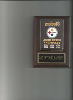 PITTSBURGH STEELERS SB BANNER PLAQUE SUPER BOWL CHAMPS CHAMP