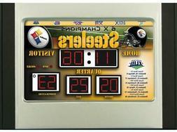pittsburgh steelers scoreboard desk and alarm clock