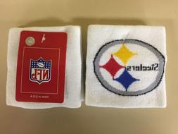 Pittsburgh Steelers Set Of 2 Cloth Sweatbands Wristbands New