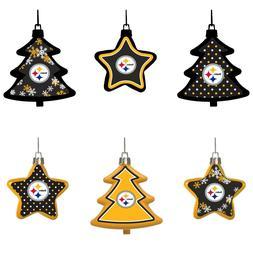 Pittsburgh Steelers Shatterproof TREES & STARS Christmas Tre