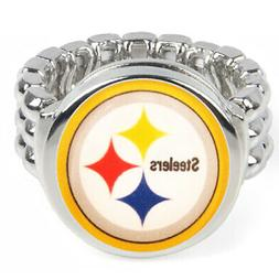 Pittsburgh Steelers Silver Mens Womens Football Ring Fits Al