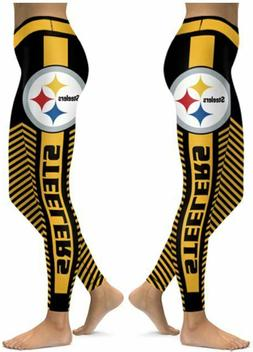 Pittsburgh Steelers Small to 2X-Large Women's Leggings New