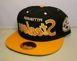 Pittsburgh Steelers Snapback Hat New with Stickers Mitchell