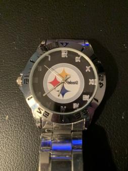 Pittsburgh Steelers Stainless Steel Band  Watch. Quartz  New