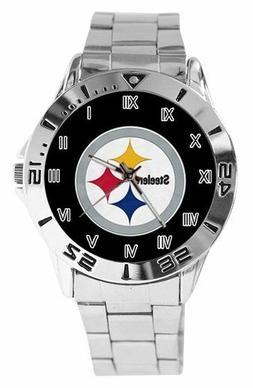 NEW Pittsburgh Steelers Custom Logo Stainless Steel Wrist Wa