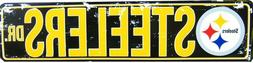 "PITTSBURGH STEELERS STREET METAL 24X5.5"" SIGN DRIVE NFL DR R"