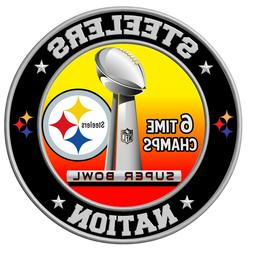 Pittsburgh Steelers Super Bowl Championship Sticker, NFL Dec