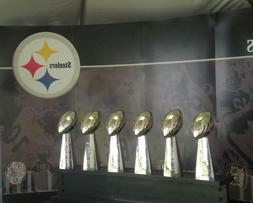 PITTSBURGH STEELERS Super Bowl Trophies Glossy 8 x 10 Photo