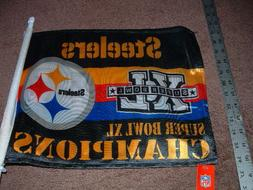 PITTSBURGH STEELERS Super Bowl XL CHAMPIONS CAR WINDOW FLAG