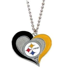 pittsburgh steelers swirl heart necklace