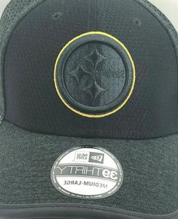 Pittsburgh Steelers / Team Hat / Black / New Era 39Thirty /N