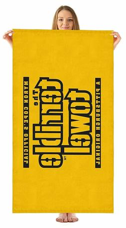 """PITTSBURGH STEELERS """"TERRIBLE TOWEL"""" BEACH  POOL TOWEL 30""""X6"""