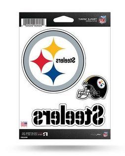 Pittsburgh Steelers Triple Spirit Sticker Sheet Die Cut Deca