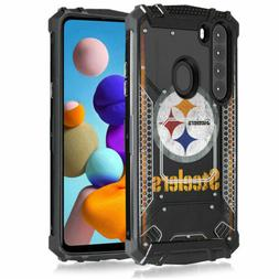 Pittsburgh Steelers #V Metal Armor Impact Case for Samsung G