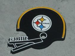 PITTSBURGH STEELERS Vintage NFL RUBBER Football FRIDGE MAGNE