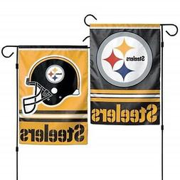 Pittsburgh Steelers WC GARDEN FLAG Premium 2-sided Outdoor H