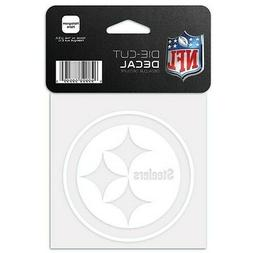 "PITTSBURGH STEELERS WHITE LOGO CUT DECAL 4""X4"" FOR CAR WINDO"