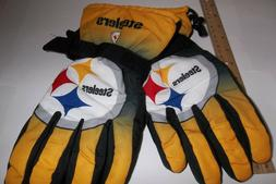 Pittsburgh Steelers Winter Ski Gloves Tailgate Game Mens Siz