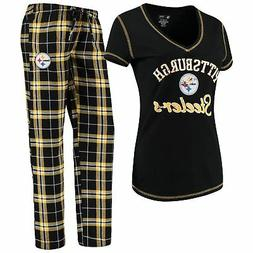 Pittsburgh Steelers Women's NFL Duo Shirt And Pants Pajama S