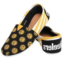 Pittsburgh Steelers Women's NFL Slip On Canvas Stripe Shoe S
