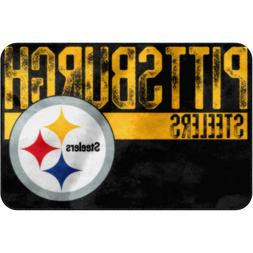 "Pittsburgh Steelers NFL Worn Out Bath Mat 20"" x 30"" Rug Bath"