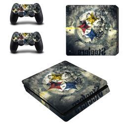 PS4 SLIM - Pittsburgh Steelers - Vinyl Skin + 2 Controller S