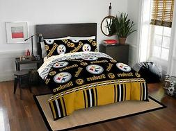 queen pittsburgh steelers bed in a bag