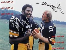 Reprint Terry Bradshaw Joe Greene Autographed Pittsburgh Ste