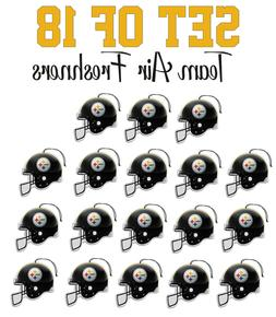 set of 18 pittsburgh steelers team helmet