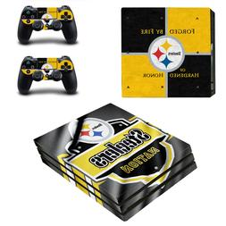 Sony PS4 PRO - Pittsburgh Steelers - Vinyl Protector + 2 Con