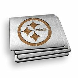 Sportula 4 Inch Stainless Steel Boasters, Pittsburgh Steeler