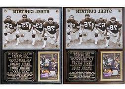 Steel Curtain Pittsburgh Steelers Photo Card Plaque Greene G