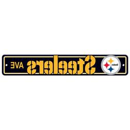 "Street Signs 4"" x 24"" Football Logo Pittsburgh Steelers NFL"