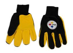 NFL Pittsburgh Steelers Two-Tone Gloves, Yellow/Black