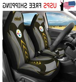 US Pittsburgh Steelers Car Seat Covers 2PCS Universal Auto F