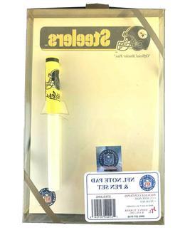 Vintage Pittsburgh Steelers NFL Licensed Note Pad Team Pen N