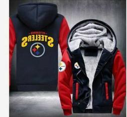 Winter Thicken Hoodie Pittsburgh Steelers Fan Warm Sweatshir