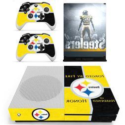 Xbox One S Slim Console Skins Pittsburgh Steelers Vinyl Deca