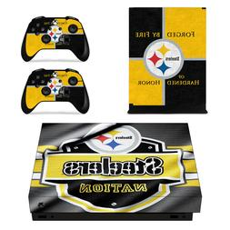 XBOX ONE X - Pittsburgh Steelers - Vinyl Skin + 2 Controller